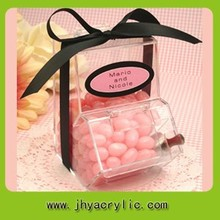 transparente de acrílico distribuidor de doces caixas