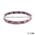 Titanium cerâmica rosa e pulseira de cor preta