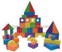 eva foam rubber build block/kid foam brick/foam block for kid
