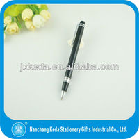capacitive promotional ball point black barrel pen