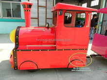 Lovely shape tourist train kid and adult rides for playground square