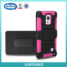 Hit in America rugged pc silicon belt clip robot mobile phone cover case for note 4