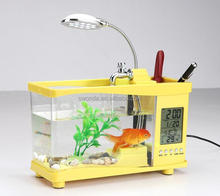 2015 restaurant coffe shop decoration transparent acrylic fish tank aquarium