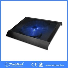 New alunimun laptop stand with cooling pads with signle fan OEM factory notebook cooling usb fan accept paypal payment