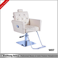 detachable headrest for white color salon styling chair,barber shop equipment W07