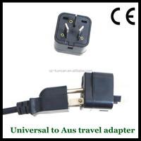 Kuncan New US EU To UK Ireland UAE 3 Prong Plug Adaptor Type D