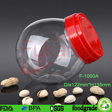 1000cc christmas ball shape plastic biscuit containers with screw lids china wholesale