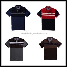 2015 man polo t shirt printing strip original design stylish high quality