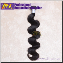 DK Hot sale 100% Human virgin hair Raw Unprocessed Indian hair Body wave 18inche Cheap price