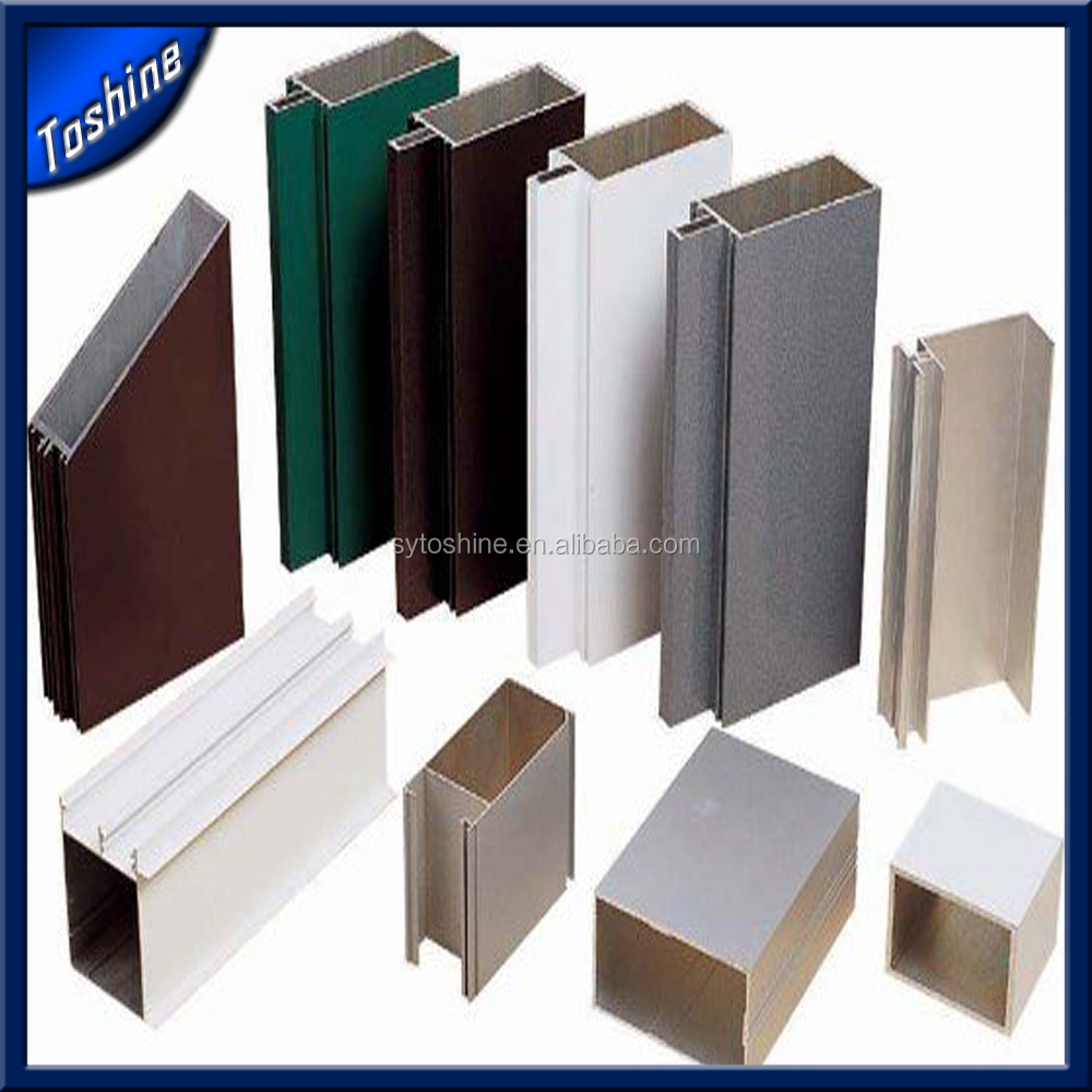 Anodized Aluminum Curtain Wall : Custom extrusion aluminum curtain wall track
