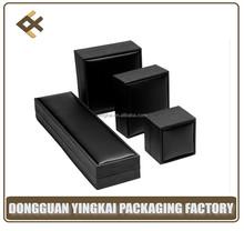high quality custom Black velvet plastic jewerly packing gift box for wholesale