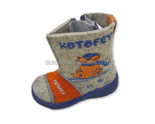 wholesale high quality upper wool felt ankle winter snow girls boots