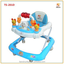 Happy sheep image orange blue green 3 color choice foldable baby walker