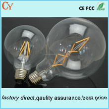 G125 global filament led full glass bulb E27/E26 5w6W7w led Edison bulb 2 years warranty led vintage edison bulb