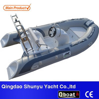 3.9m short shaft engine fiberglass rib inflatable boats with CE