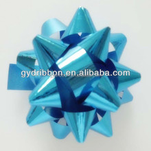 "3.5"" Mini Blue Metallic Star Ribbon Bow for Christmas or Decorative /Gift box packing"
