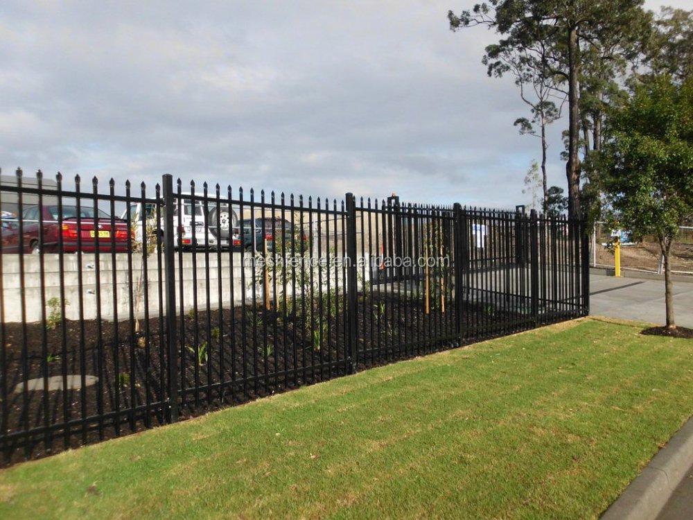 Villa decorative powder coated metal yard guard fence