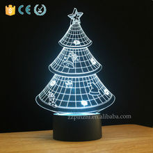 NL7 colors changing 3d illusion led night lights for kids
