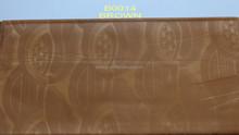 Wholesale fabric china fashionable brown printed jacquard brocade fabric B0014