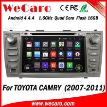 "Wecaro Android 4.4.4 car multimedia system in dash 8"" for toyota camry headrest dvd player bluetooth 2007 - 2011"