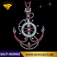 anchor Design hot fix rhinestone transfer iron on for clothes