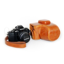 Hight quality leather professional camera bag for Olympus EM10