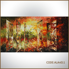 Palette knife painting of tree landscape oil painting