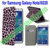 Leopard Pattern Leather Case for Samsung Galaxy Note N7000 i9220 i717 with Card Slot and Stand