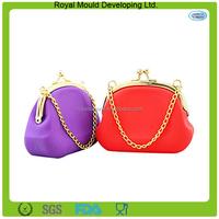 Fashion bulk wholesale silicone rubber smart wallet/coin purse
