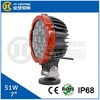 "led light car 12v dc led tv, 7"" 51w automobile accessory car work light led 12v for tractor, offroad, truck, marine"