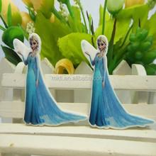 Wholesale Customized cartoon design girl with long dress flat back resin