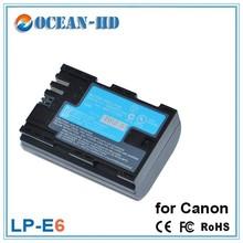 1800 mah rechargeable li-polymer battery cell LP-E6 camera battery