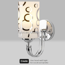Wholesales NA style silver white color wall lamp led 220v