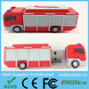 Factory customized Fire truck shape usb flash drive