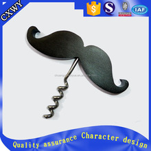 custom mustache shape metal wine opener
