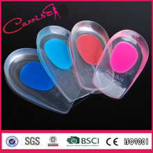 hot sale silicone heel insole for women shoe insoles hot press cushion pad