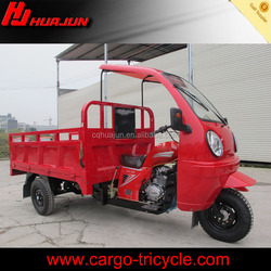 Cargo tricycle with driver cabin