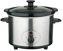 Stainless Steel Round Electric Slow Cooker