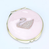 metal mirror compact ,favorites compare give away gift metal jeweled mak ,cosmecit mirror for girls HQCM290916