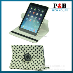 wholesales 360 rotating leather flip case for ipad air 2,cover for ipad air 3 case