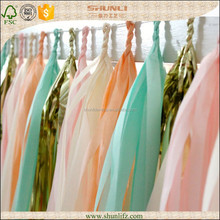 dessert tables decoration sweet baby color tissue paper garland string