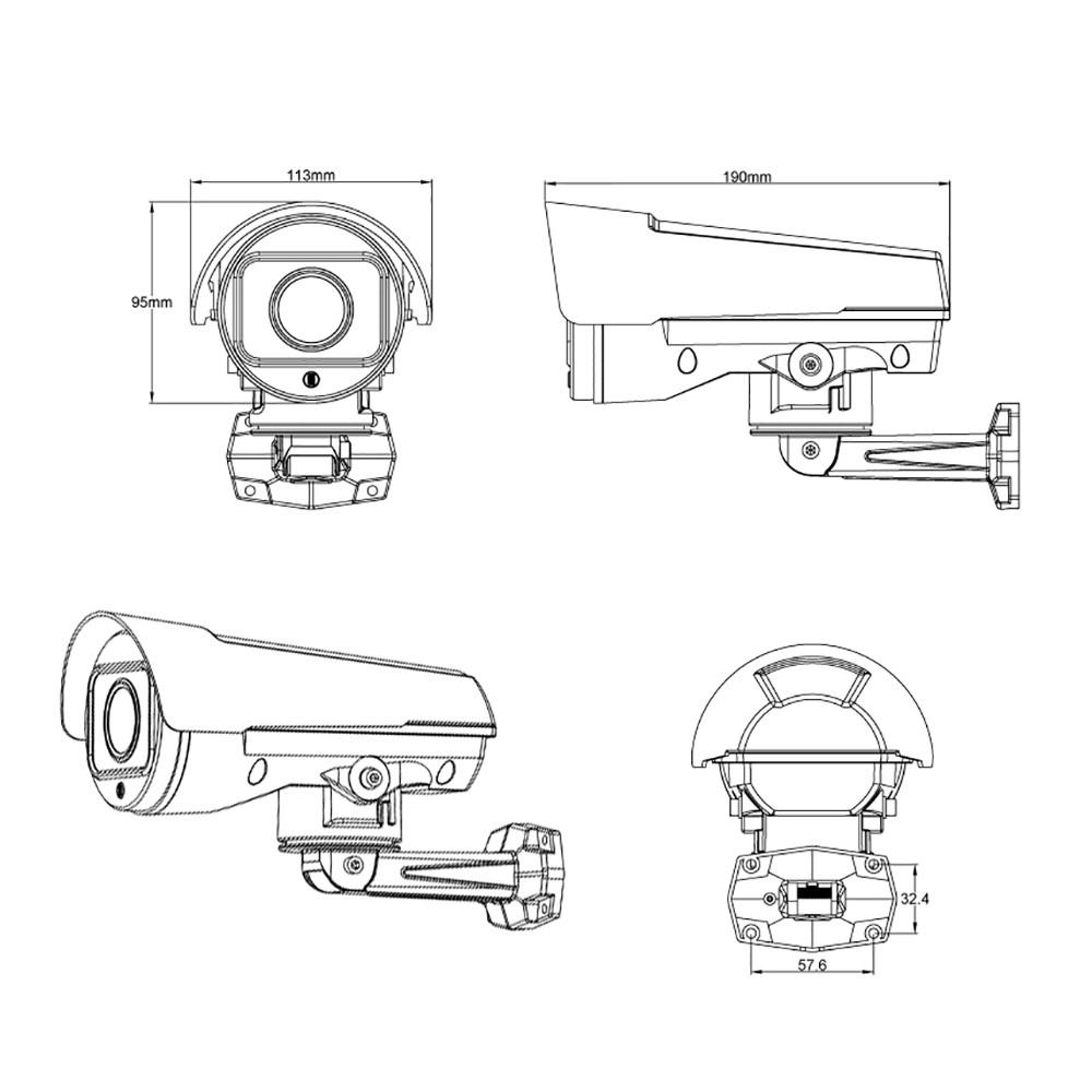 2mp cctv camera auto iris varifocal 4 9
