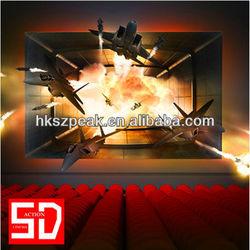 2014 new attraction!5d cinema movie simulator 6d 7d 8d 9d Xd Kino /cabine Cine for children