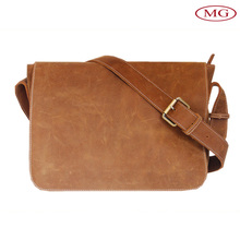 Handmade vintage genuine leather satchel from china supplier