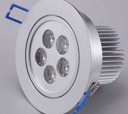 2012 new product 5W led ceiling light Silver AC85~265V 50Hz-60Hz 500lm Cool white Aluminum square 5w led down light