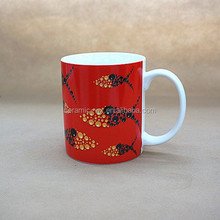 Spring weather 11oz sublimation ceramic coffee mug, promotional mug,custom mug made in china