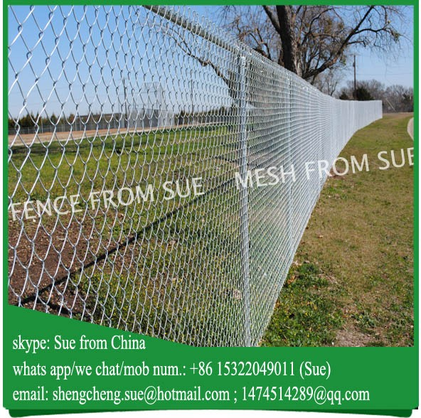 galvanized farm chain link mesh fence