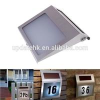 HOMEAN Solar House Number Solar Doorplate Light/Outdoor Solar Light