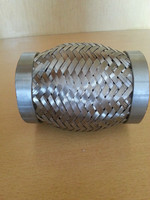 Good quality economic auto performance exhaust flex bellows with double braids and nipples