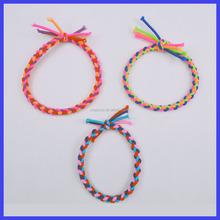 wholesale colorful hand-woven elastic friendship bracelet
